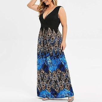 Ni_ka - Vestido de Verano para Mujer de Talla Grande, Estampado de ...