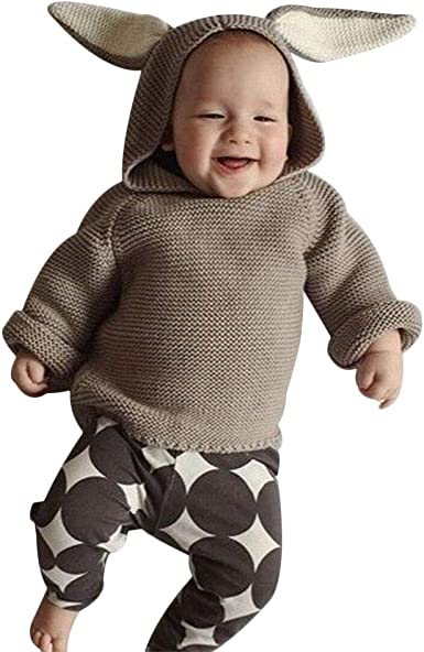 Hand knitted hoodie kids sweater,wool kids sweater with rabbit,Happy Easter,lovely Easter gift for 5-6 years old kids,soft and casual .