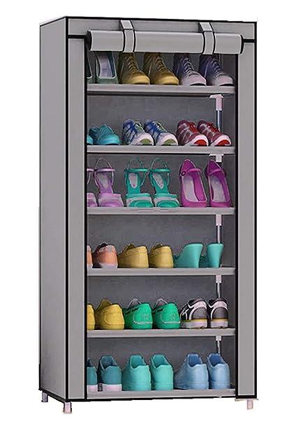 e969ef37f7 Multipurpose Portable Folding Shoes Rack 6 Tiers Multi-Purpose Shoe ...