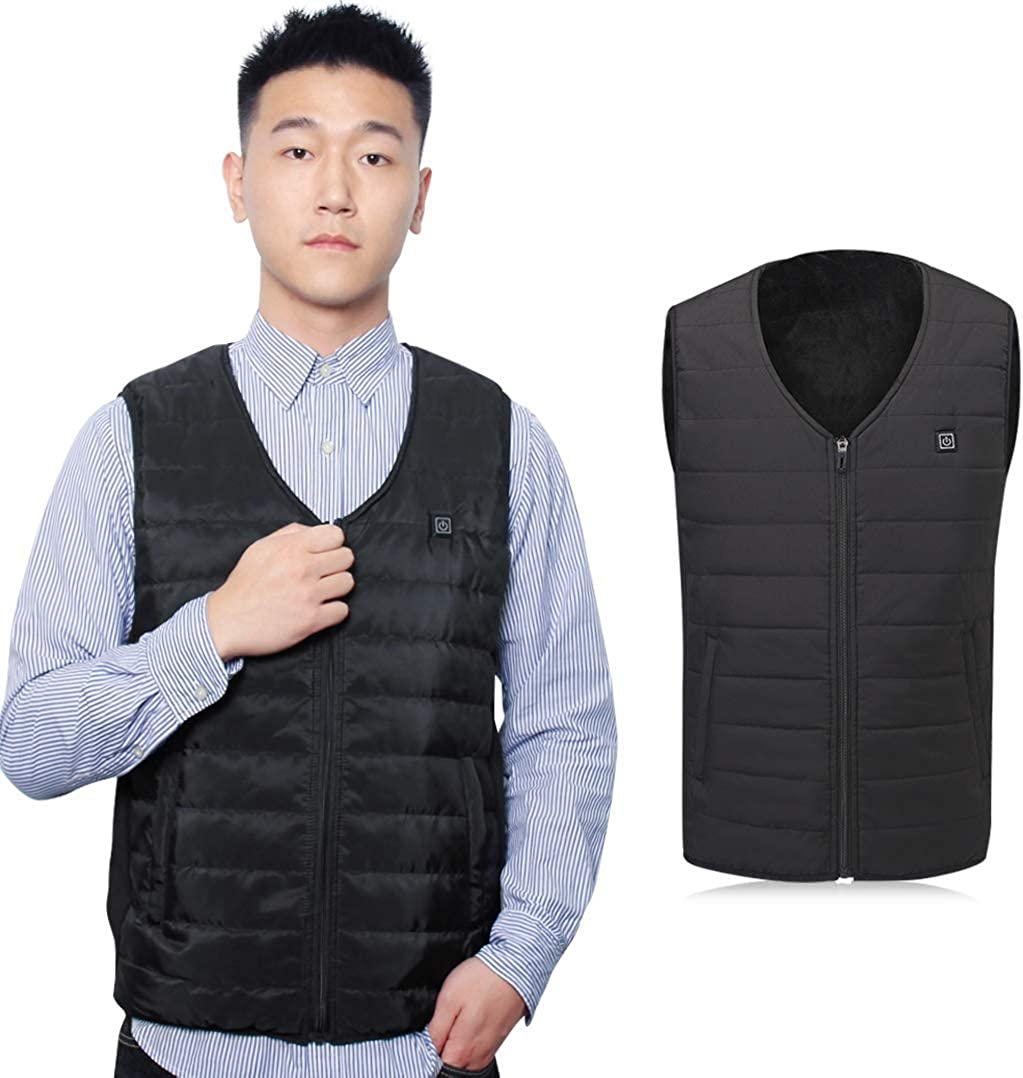 A-MIND Heated Vest USB Heating Jacket Cold-Proof Heating Clothes, Washable Heating Pad Apparel Jacket