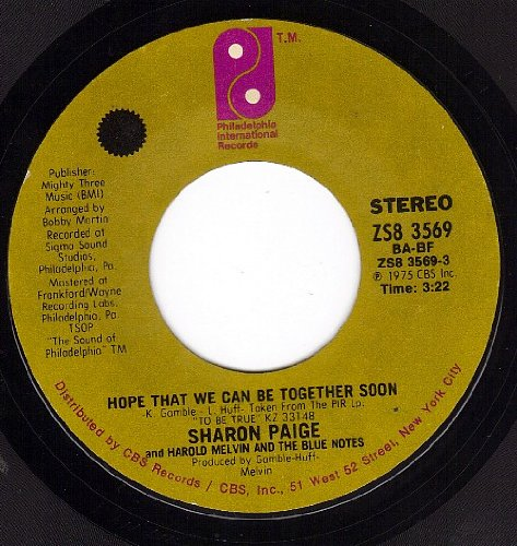 Hope That We Can Be Together Soon/Be For Real (VG+ 45 rpm)
