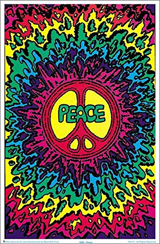- Psychedelic Peace Blacklight Poster 23 x 35in