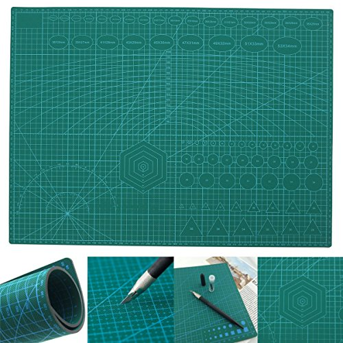 A2 PVC Double Printed Self Healing Cutting Mat Craft Quilting Scrapbooking Board by Som