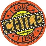 I Love Santiago Chile Label Home Decal Vinyl Sticker 12'' X 12''