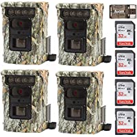 Four Browning BTC9D Defender 850 Wifi / Bluetooth Trail Game Cameras (20MP) & 4 32Gb Cards w. Focus Reader