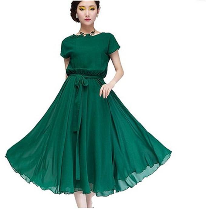 DragonPad ? Women\'s Chiffon Vogue Boho Evening Long Casual Dress ...