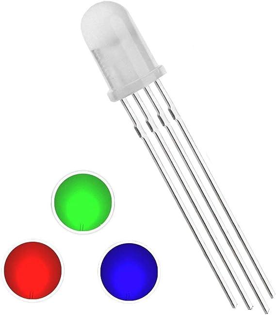 500Pcs LED DIFFUSED RGB common cathode 4-PINS F5 5MM Super Bright Bulb Lamp