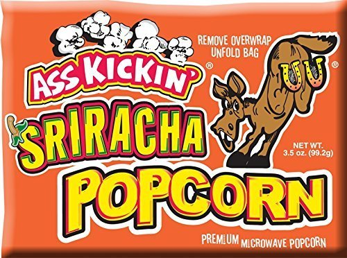 Ass Kickin' Microwave Sriracha Popcorn - Put a Little Ass Kickin' in Your Favorite Movie. This Popcorn Is Seasoned Just Right, with a Taste of the - Favorite Your Movie