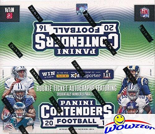 2016 Panini Contenders Football MASSIVE 24 Pack Factory Sealed Retail Box ! Look for Rookies & Autographs of Ezekiel Elliott, Dak Prescott, Carson Wentz & More!