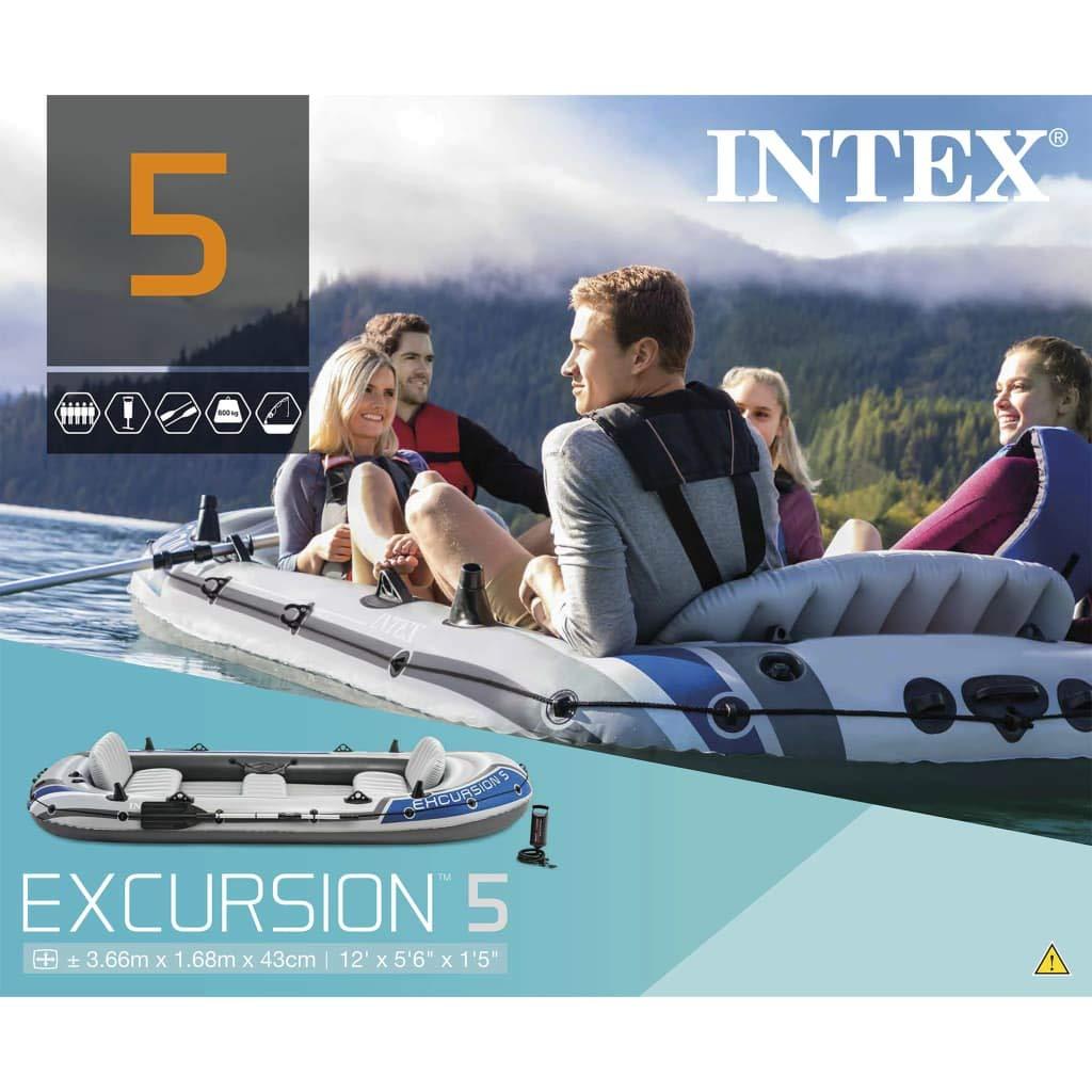 INTEX Barca Hinchable Seahawk con Remos y Bomba de Inflado ...