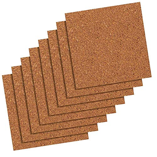 (Quartet Cork Tiles, Natural, 12 x 12 Inch, Frameless, 8 Pack (102))