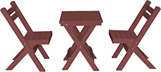 product image for Amish Poly Coronado Square Folding Bistro Set (Cherry)