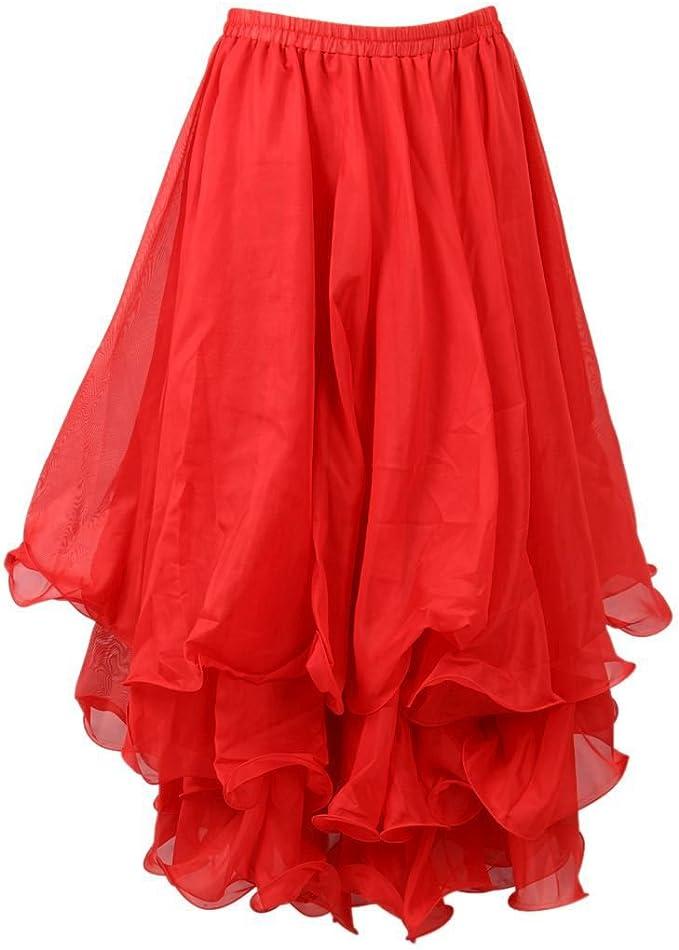 SODIAL(R) Traje de danza del vientre de Estilo Vintage Falda con 3 ...