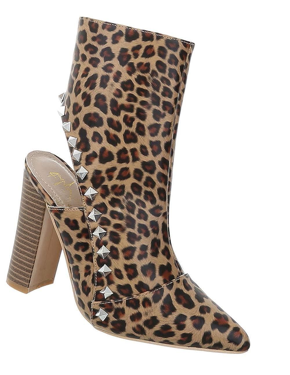 Damen Schuhe Stiefeletten Stiefeletten Stiefeletten Ankle Stiefel spitz Heels Blockabsatz 36-41 a3274a