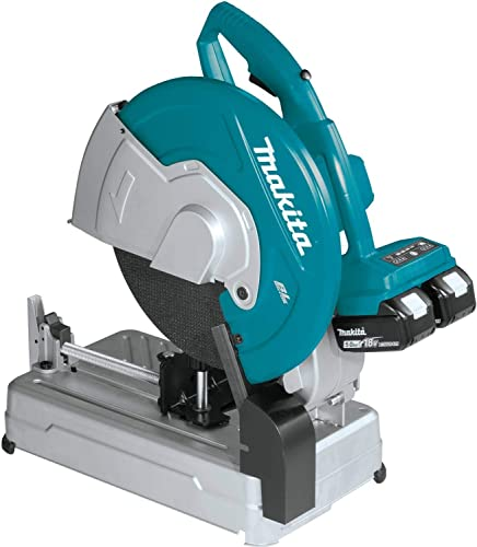 Makita XWL01PT 18V X2 LXT 36V Brushless 14 Cut-Off Saw Kit with XDT14Z 18V LXT Brushless 3-Speed Impact Driver