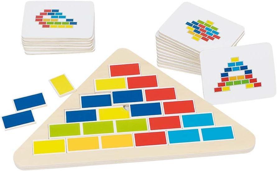 Goki-57924 Puzzles 3D, Triángulo Segmentado, Multicolor (4013594579247)
