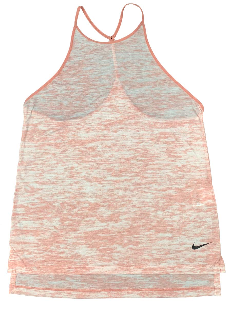 NIKE Womens Dri-Fit Breather Lightweight Loose Tank Top Shirt (Small, Pink)