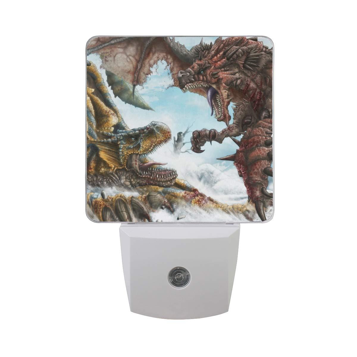 Night Light Dinosaur WAR Led Light Lamp for Hallway, Kitchen, Bathroom, Bedroom, Stairs, DaylightWhite, Bedroom, Compact