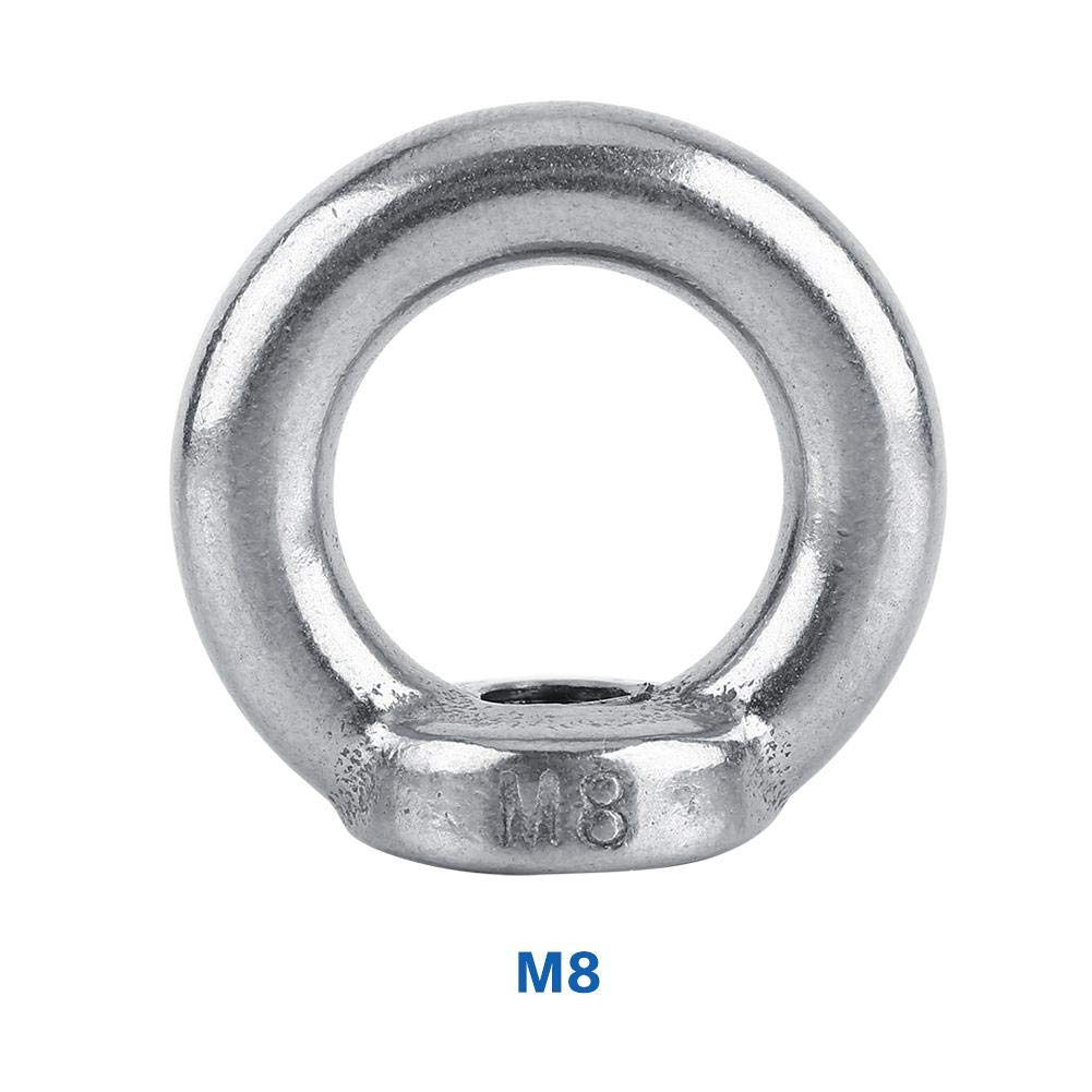 M8 Lifting Nut 1pc M6-M16 DIN582 Stainless Steel SS304 Lifting Eye Nuts Fastener for Cable Rope Eye Nuts