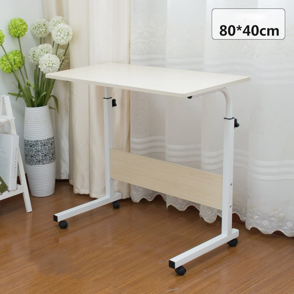 Sofa,Hospital,Travel Size : A Zfusshop Laptop Table Adjustable Height Computer Cart Mobile Laptop Desk Stand Laptop Table On Wheels for Bed and Sofa,Multi-Color Optional Desk Folding Table