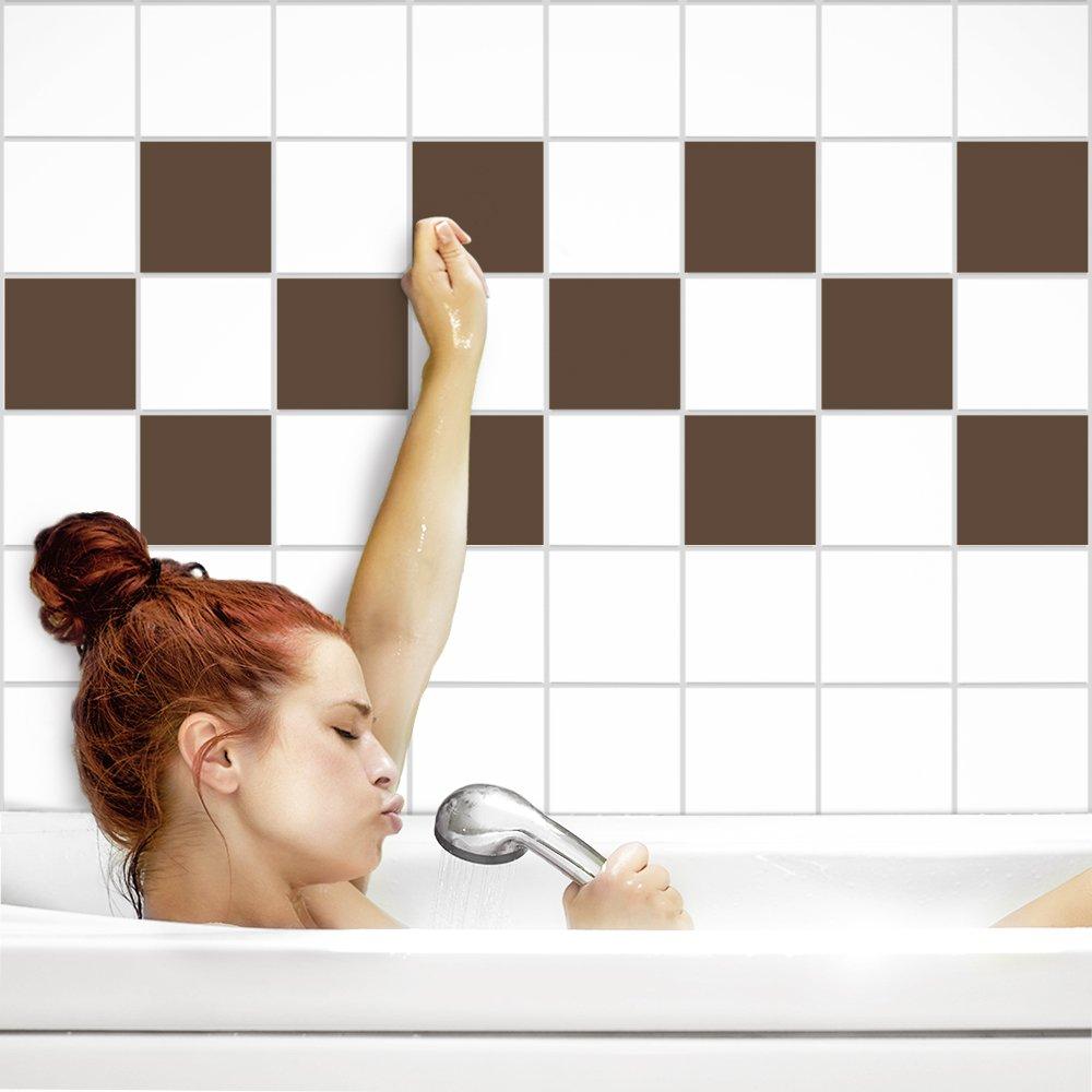 PrintYourHome Fliesenaufkleber für Küche und Bad     einfarbig weiß matt   Fliesenfolie für 20x20cm Fliesen   152 Stück   Klebefliesen günstig in 1A Qualität B071W1FB6N Fliesenaufkleber 52b3f3