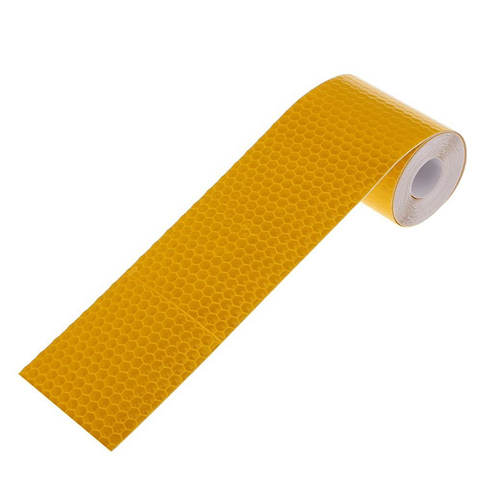 FENICAL Adhesive Reflective Tape Sticker Safety Tape Conspicuity Tape 3M Golden Yellow