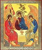 Russian Orthodox Holy Trinity Icon Old Testament Trinity Rublev 8 3/4 Inch