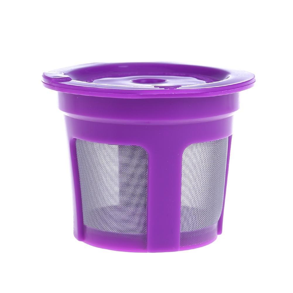 K-Cup Filters コーヒーフィルター 再利用可能 K-Cup 詰め替え可能 ステンレススチール メッシュ コーヒーフィルター ポッド Keurig マシンツール sikiwind パープル 1fk6bd9hb7nh6ty9D02-us02A  パープル B07GTH3K7B