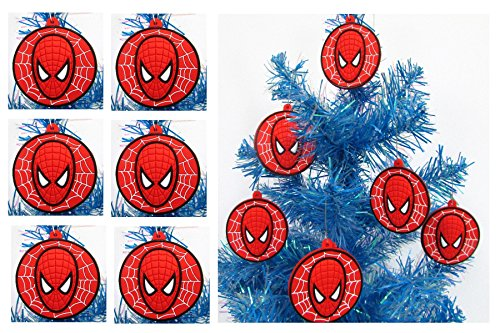 SPIDER MAN Holiday Christmas Ornament Set - Unique Shatterproof Plastic Design