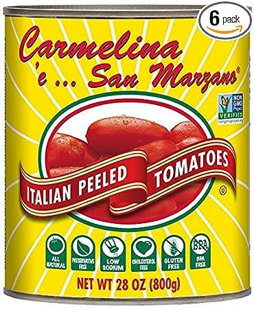 amazon com carmelina san marzano italian whole peeled tomatoes in