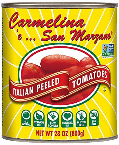 Carmelina San Marzano Italian Whole Peeled Tomatoes in Puree, 28 ounce (Pack of...