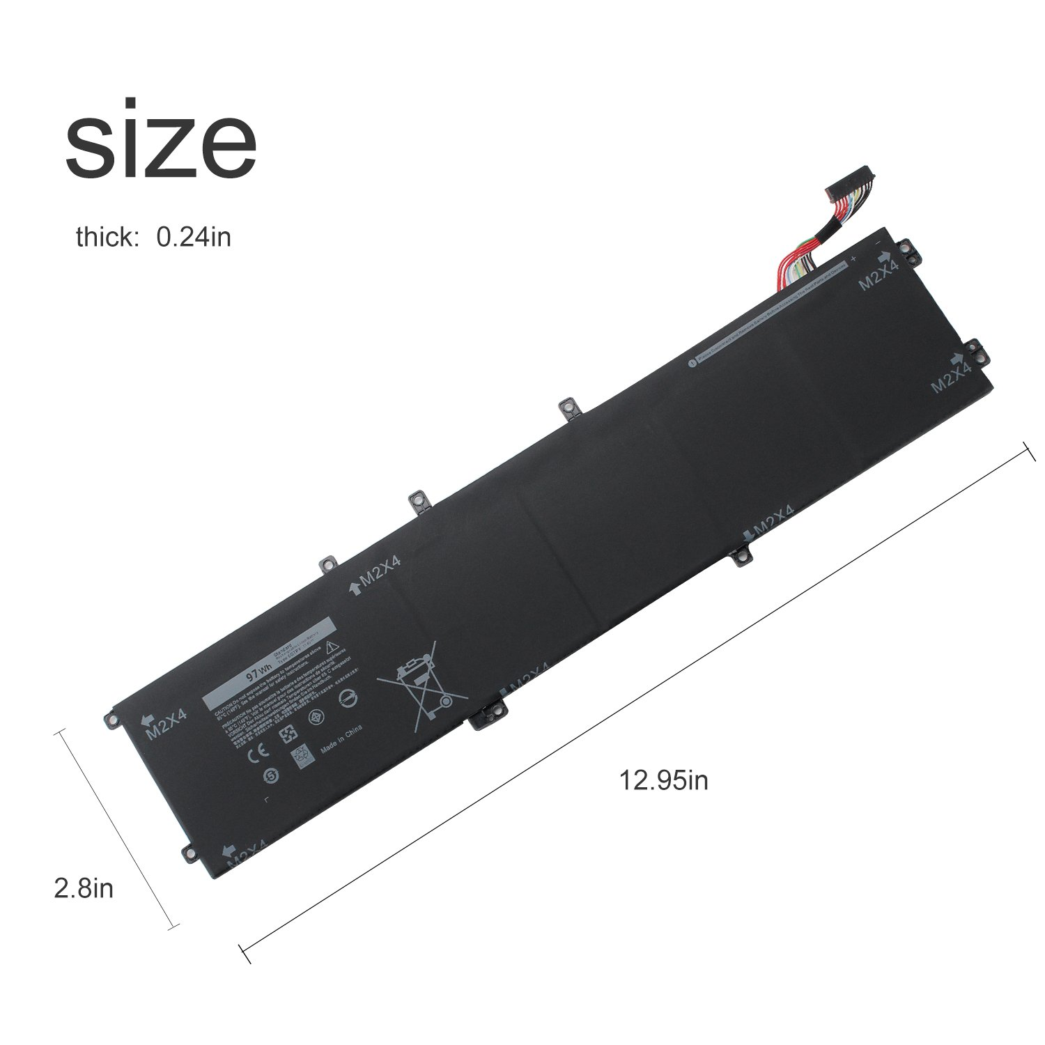 SWEALEER Compatible 6GTPY Battery if Applicable Dell XPS 15 9560 9550 Precision 5510 5520 M5520 Replacement for 5XJ28 i7-7700HQ 5D91C Laptop [Li-ion 6 Cell 11.4V 97Wh 18 Months Warranty 6GTPY] by SWEALEER (Image #5)