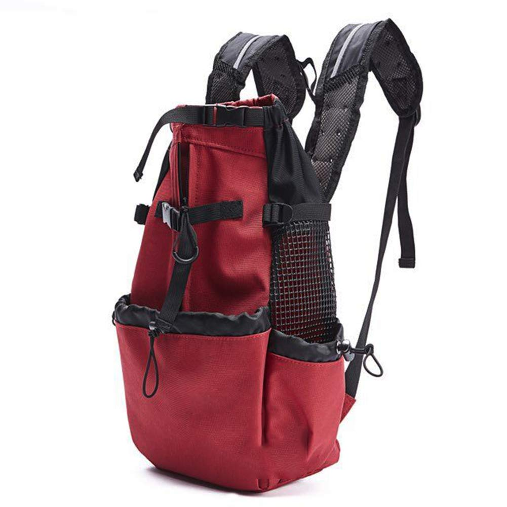 Medium Front Legs Out Travel Dog Carrier Backpack, Soft-Sided Durable Cycling Hiking Outdoor Sports Backpack,Red
