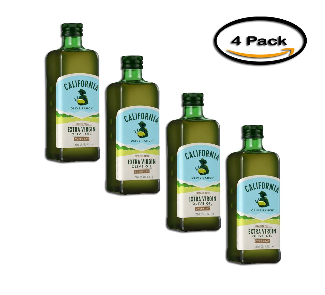 PACK OF 4 - California Olive Ranch Extra Virgin Olive Oil, 25.4 fl oz by California Olive Ranch
