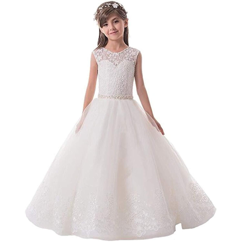Amazon Portsvy Princess Girls First Communion Dresses White