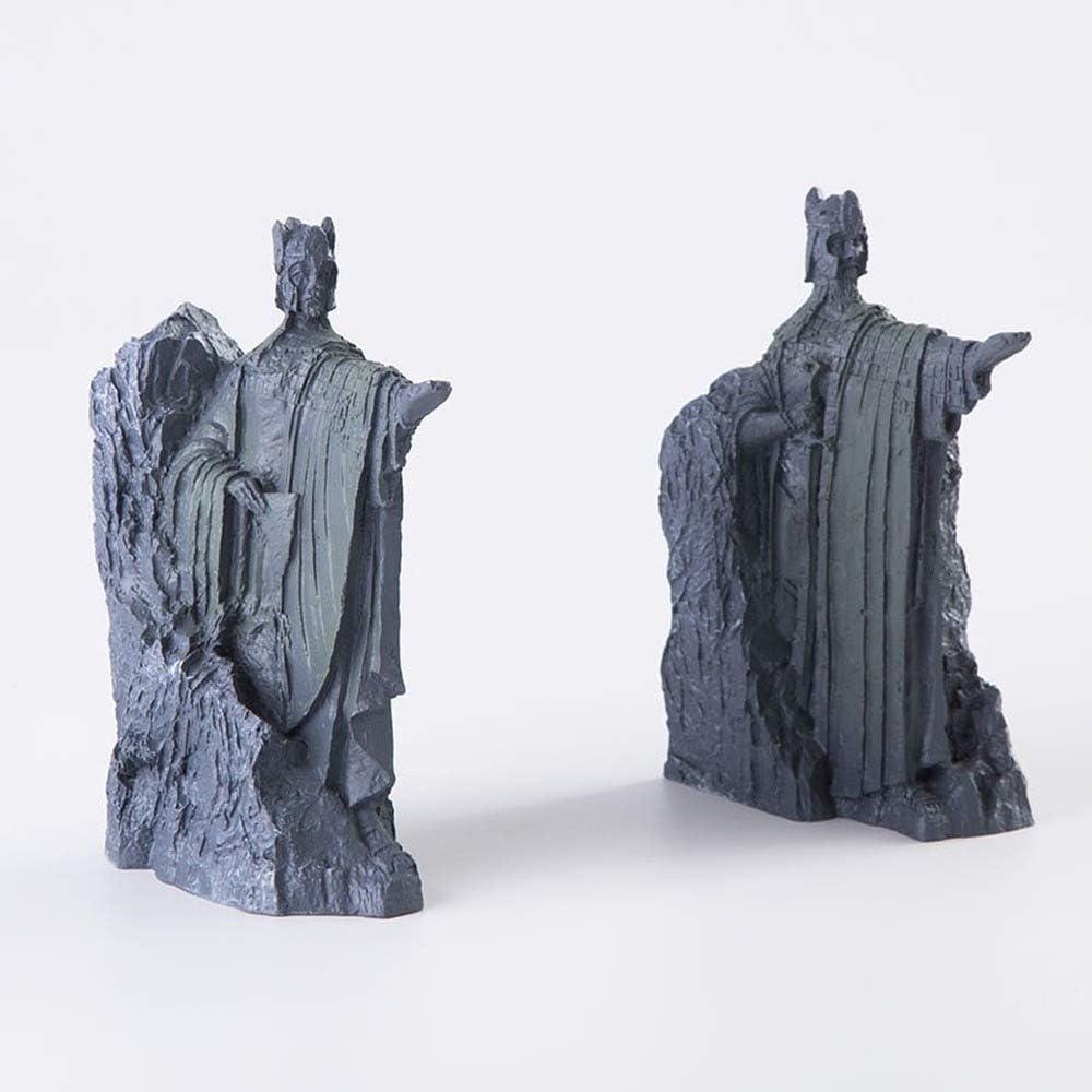 Amazon Com Set Of 2 Argonath Statue 6 Argonath Figure Ornament Handmade Polystone Argonath Model Sculpture Lord Of The Rings Figurines Kitchen Dining