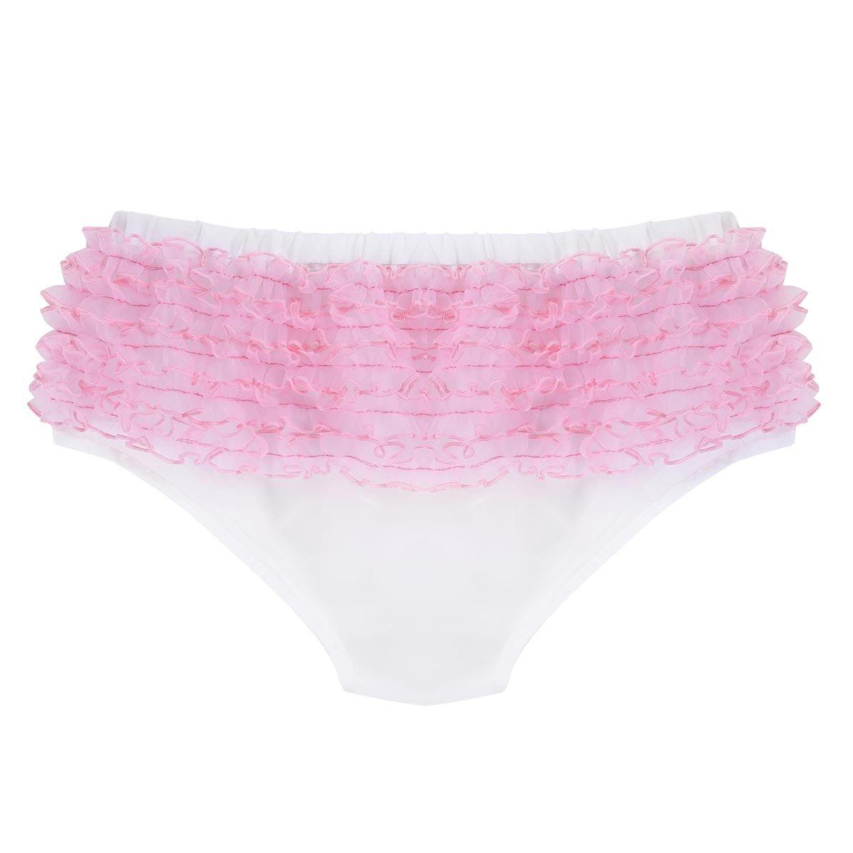 TiaoBug Herren Slip Sissy H/öschen Panties Satin String Tanga Thong M/änner Bikini Brief Unterw/äsche Geraffte Unterhose mit Strumpfhalter M-XXL