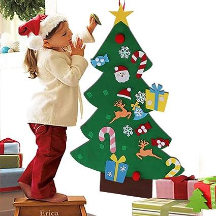 Aytai DIY árbol de Navidad de fieltro con adornos para los niños ...