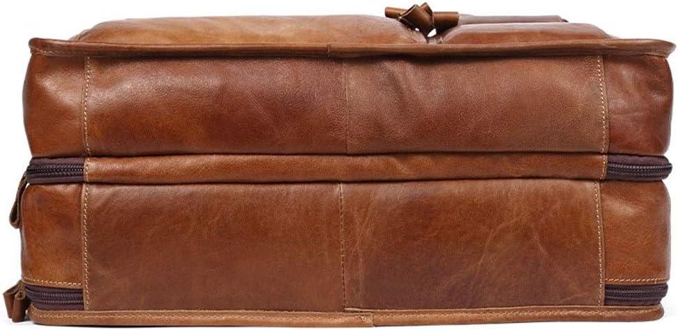 TangFeii Briefcase Leather Business Laptop Bag Shoulder Bag Messenger Bag Briefcase Travel Husband Gifts
