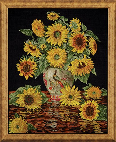 (Tobin 14 Count Sunflower Vase Counted Cross Stitch Kit, 16 by 20-Inch)