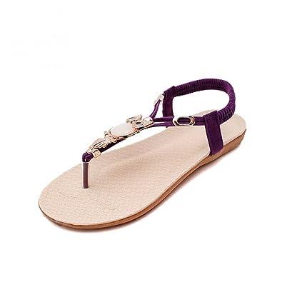 1da3e3cc9fa19 Robert Westbrook Womens Sandal Thong Flip Flops Shoe Sandals Women Summer Beaded  Sandal Non-Slip