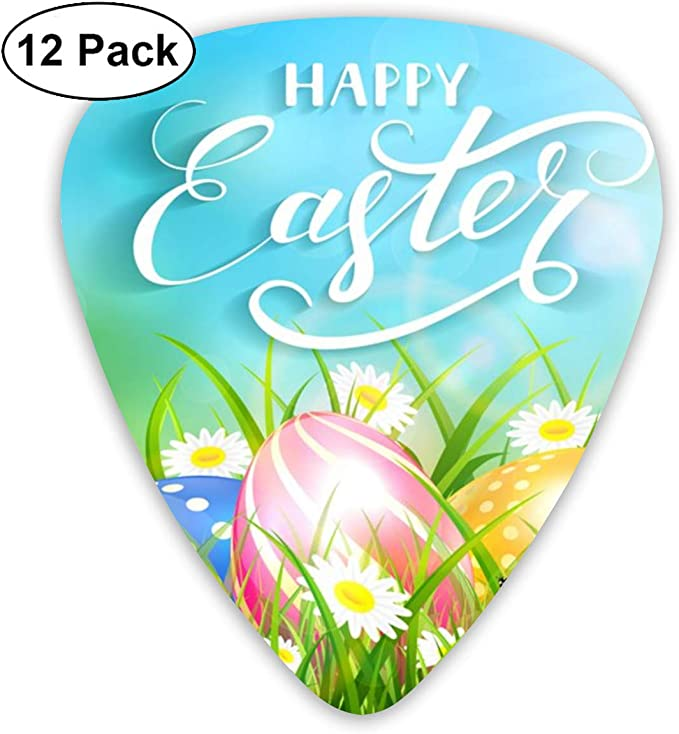 Amazon.com: Guitar Picks Easter Eggs Grass Wildflowers And ...