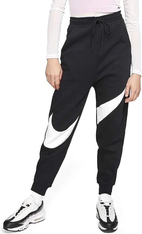 Nike Swoosh Pantalones Deportivos Para Mujer Recto Negro Negro Blanco X Large Amazon Com Mx Ropa Zapatos Y Accesorios