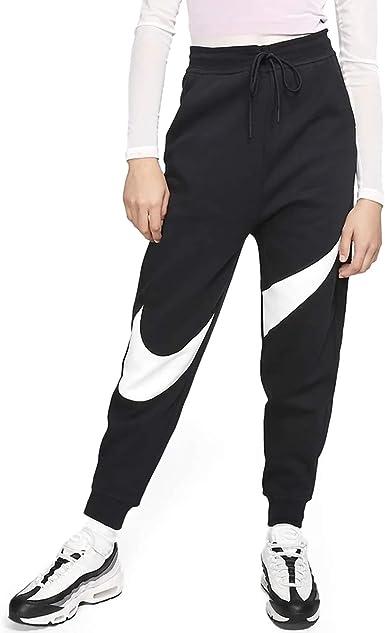 Fértil repetición molestarse  Amazon.com: Nike Sportswear Swoosh - Pantalones de forro polar para mujer,  Negro, S: Clothing