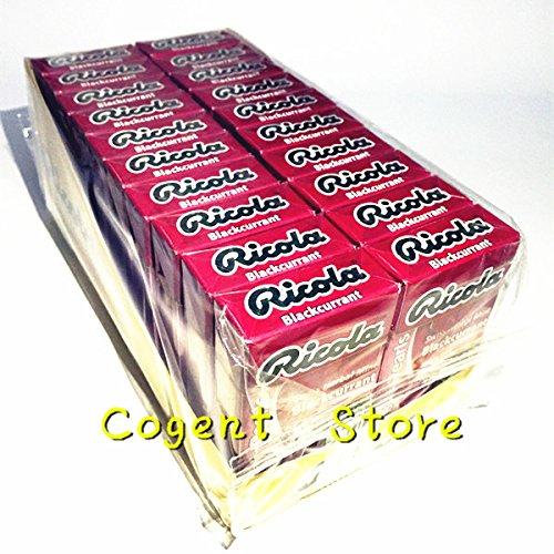 Ricola Herbal Sugar Free Swiss Pearl Breath Mints 1 Case (Pack of 20) (Blackcurrant)