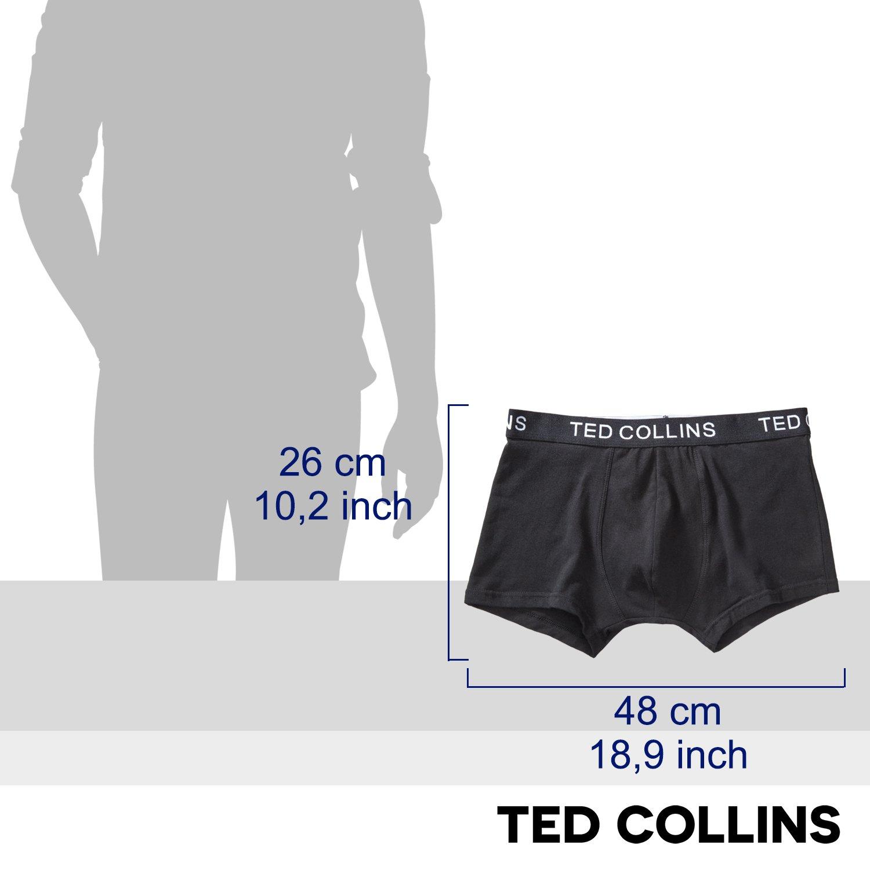 TED COLLINS 6 bóxer para Hombre, Negro, Talla L, cómodos y elásticos/Shorts / Calzoncillos/Ropa Interior/Ropa Intima - con 2 años de garantía de devolución ...