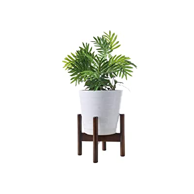 "Plant Stands Indoor, Mid Century Modern Plant Wood Indoor Flower Pot Holder Fits Max 7"" Pots(Plant and Pot NOT Included, Dark Brown) : Garden & Outdoor"
