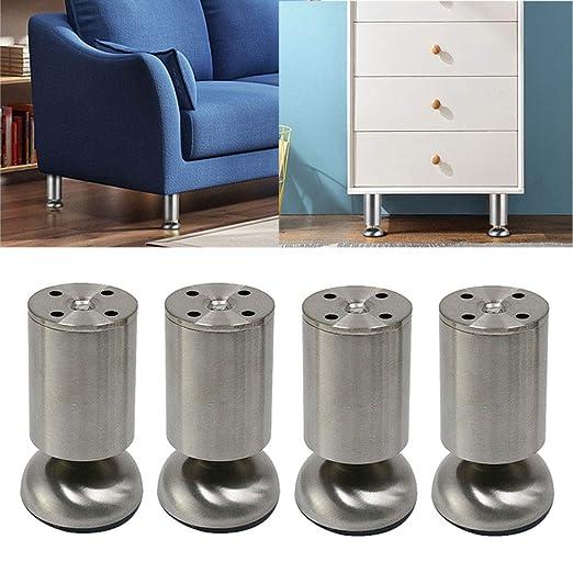 WENYAO Patas de Muebles de Metal Ajustables de 2.4 pulgadas-15.7 ...