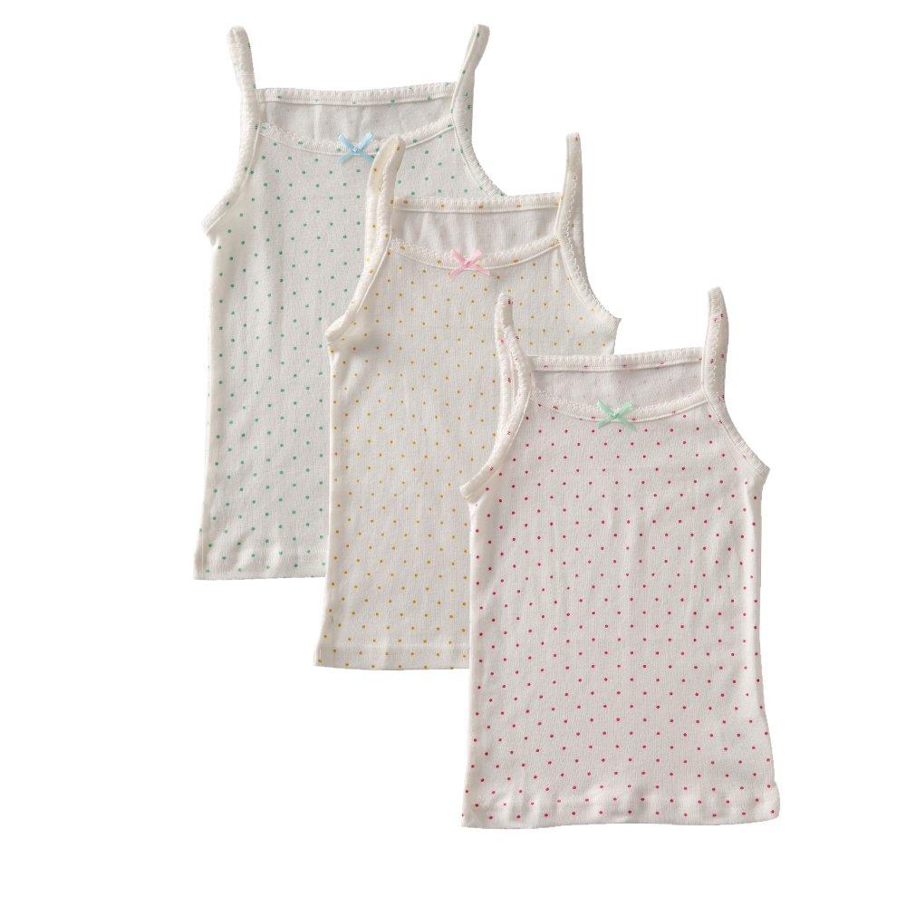 benetia Girls Print Cami Super Soft Undershirts 3-Pack 1045456
