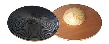 MDF 50 cm Bad Company I Balance Board aus Holz 40 I Therapiekreisel in Studio-Qualit/ät I 30